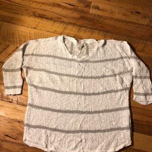 Cream and khaki striped sweater